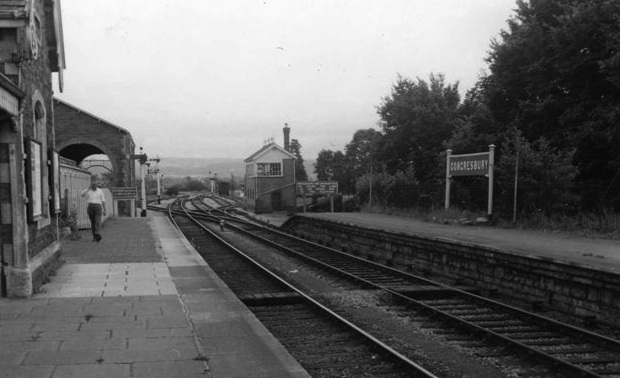 Historical Congresbury Station around 1950