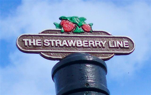 A Strawberry Line sign